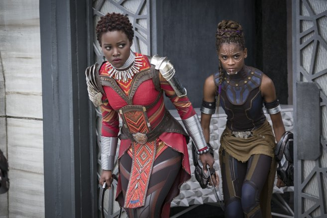 Black Panther, Lupita Nyong'o, Letitia Wright, Nakia, T'Challa, Review, General Gen, Marvel